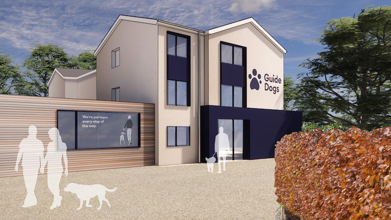 Conceptual computer generated image of the exterior of the Leeds centre