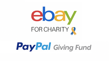 Corporate partners eBay for Charity and PayPal logos