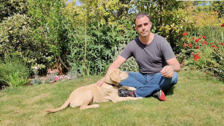 William_citi_employee_and_puppy_walker_with_guide_dog_theia