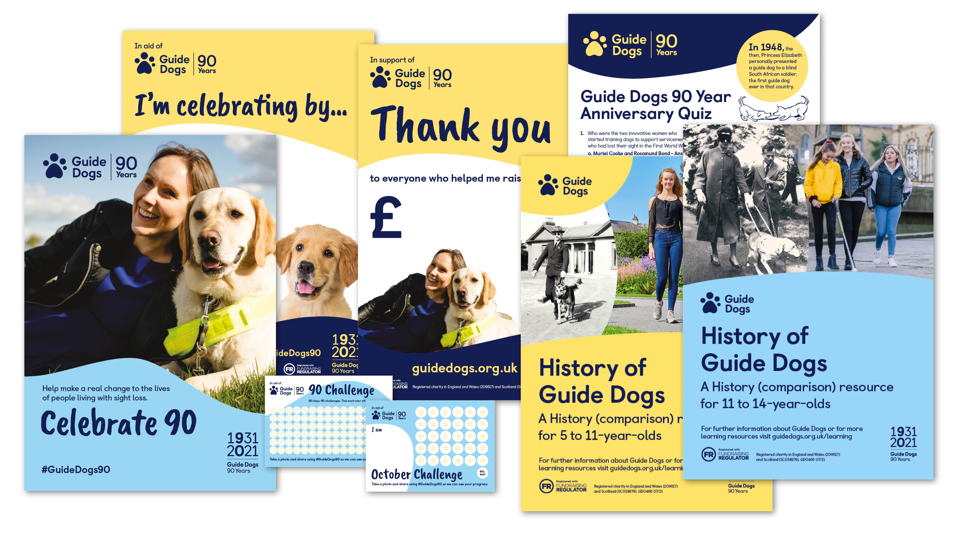 Guide Dogs 90 Appeal fundraising pack shot