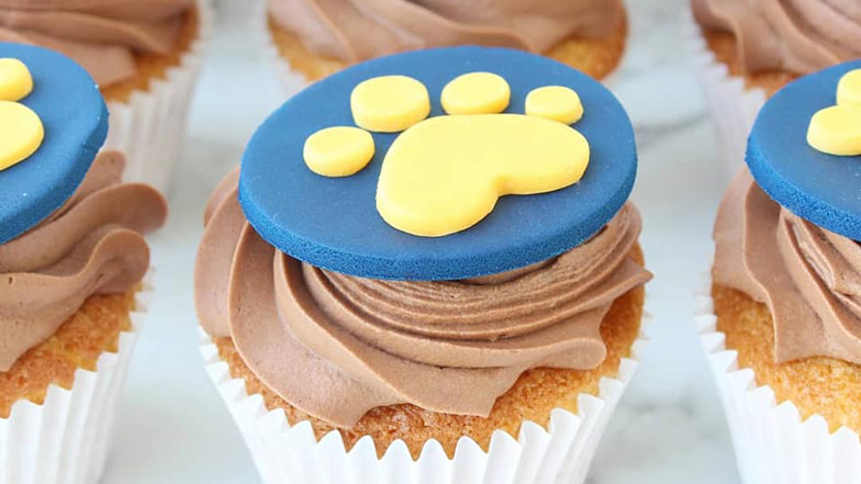Great Guide Dogs Tea Party cupcakes