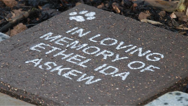 Lasting memorial stone