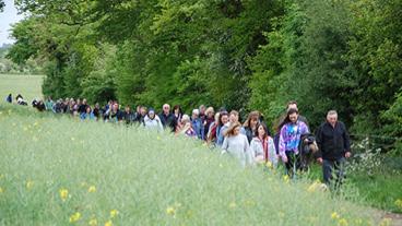 Group of people walking in memory