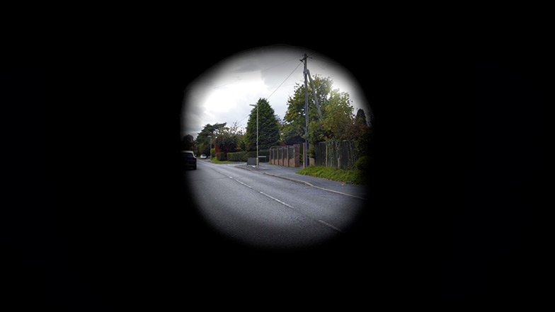 A road with only the centre of the image visible to demonstrate tunnel vision
