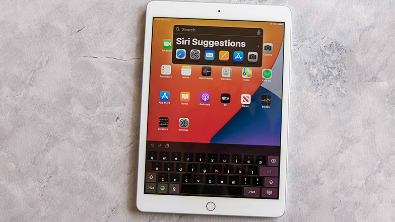 An Apple iPad screen showing 'Siri suggestions'