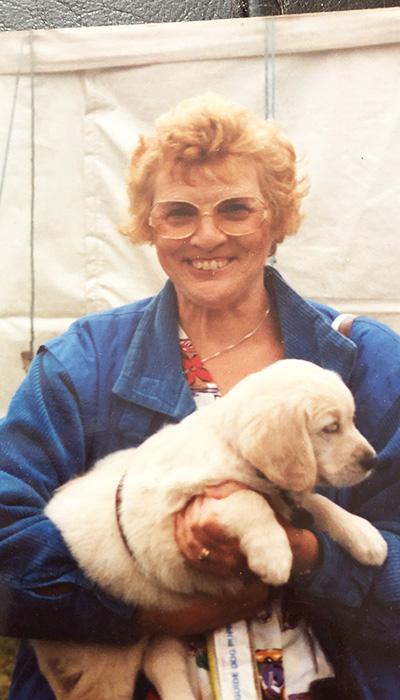 Volunteer Puppy Walker Cynthia